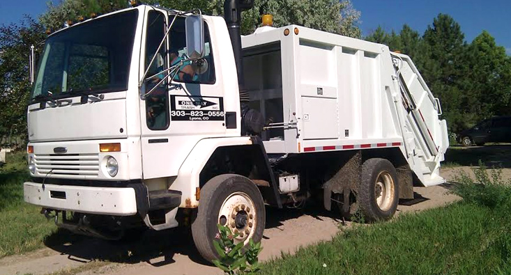 Trash Truck One Way Trash Colorado